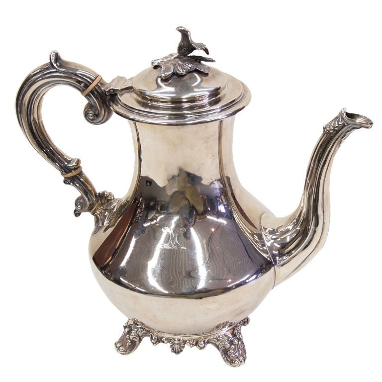 Antique Irish Sterling Silver Coffee Pot At 1stdibs