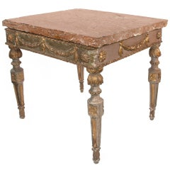 18th C. Italian centre table with hand-cut marble top.