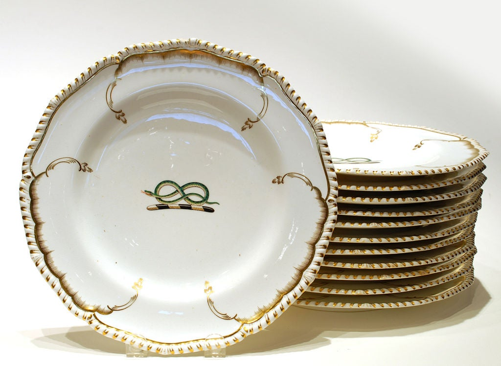 Derby set of dishes. c1825 image 2