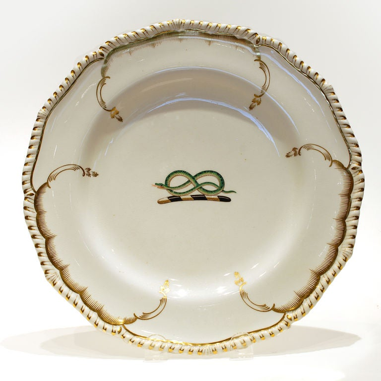 Derby set of dishes. c1825 image 3