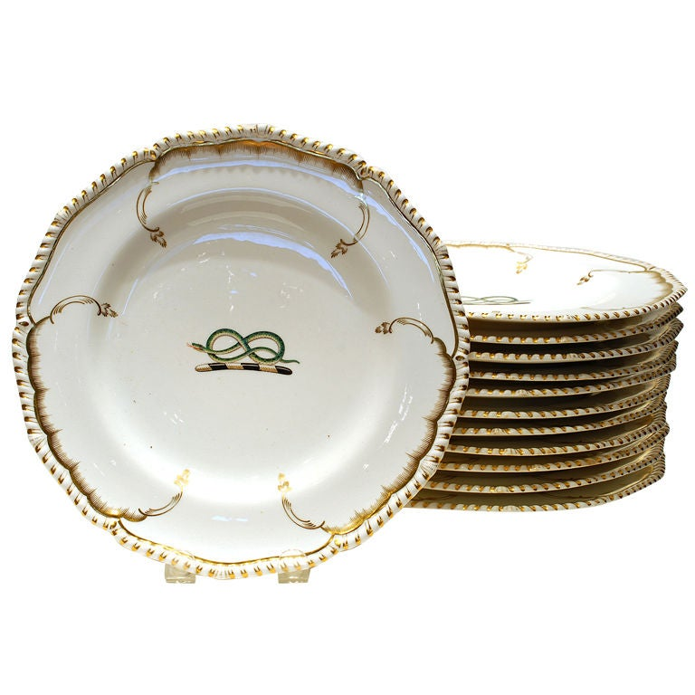 Derby set of dishes. c1825