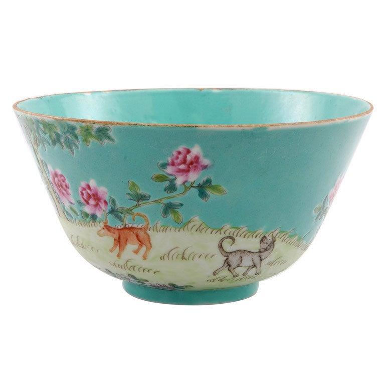 Chinese Guongxu Period bowl with animals