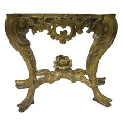 Fantasy Gilt-wood console table