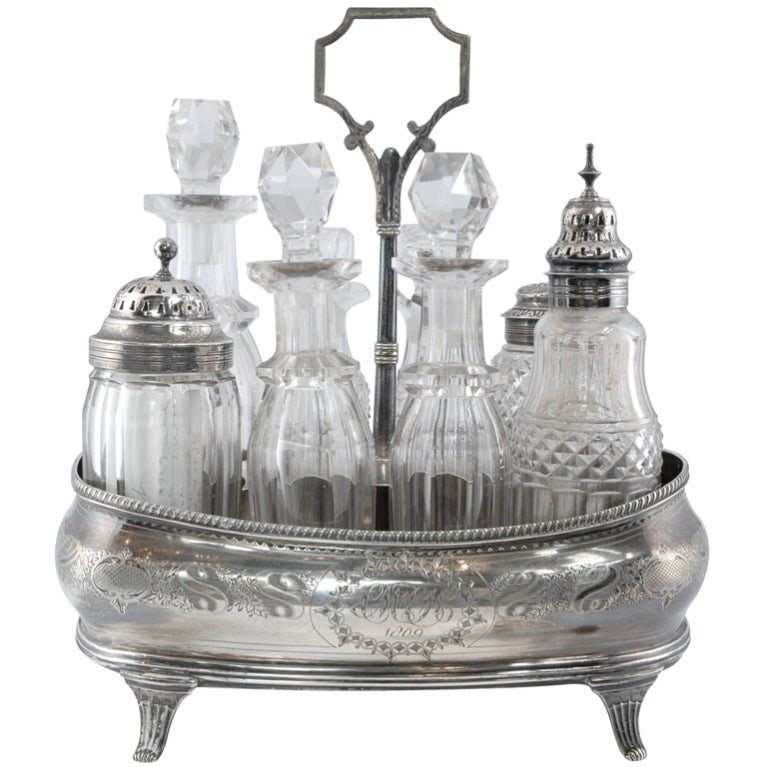 Sterling Cruet Set At 1stdibs