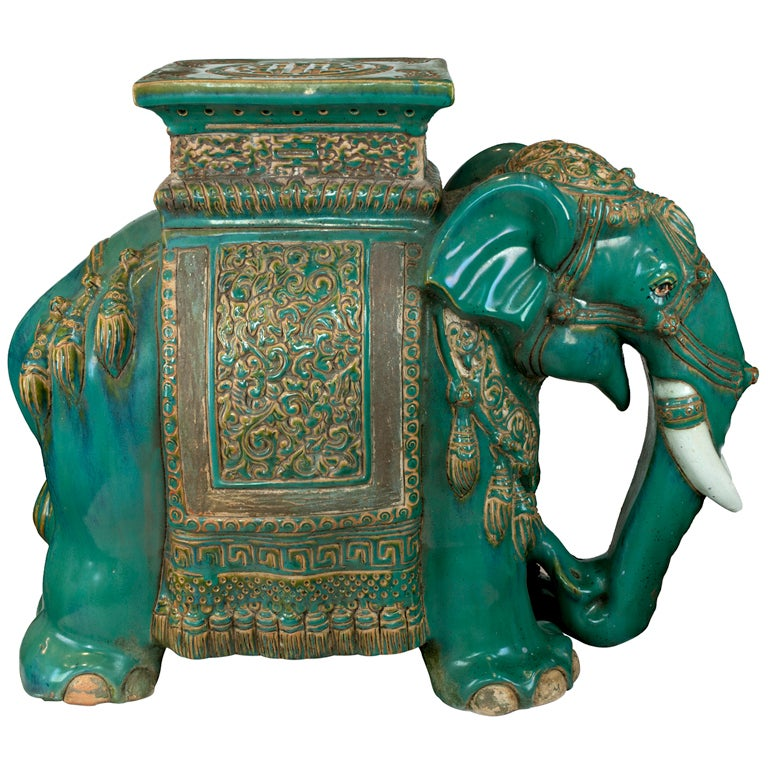 Chinese Ceramic Elephant Table At 1stdibs