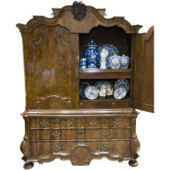Eighteenth Century Dutch cabinet-on-chest.