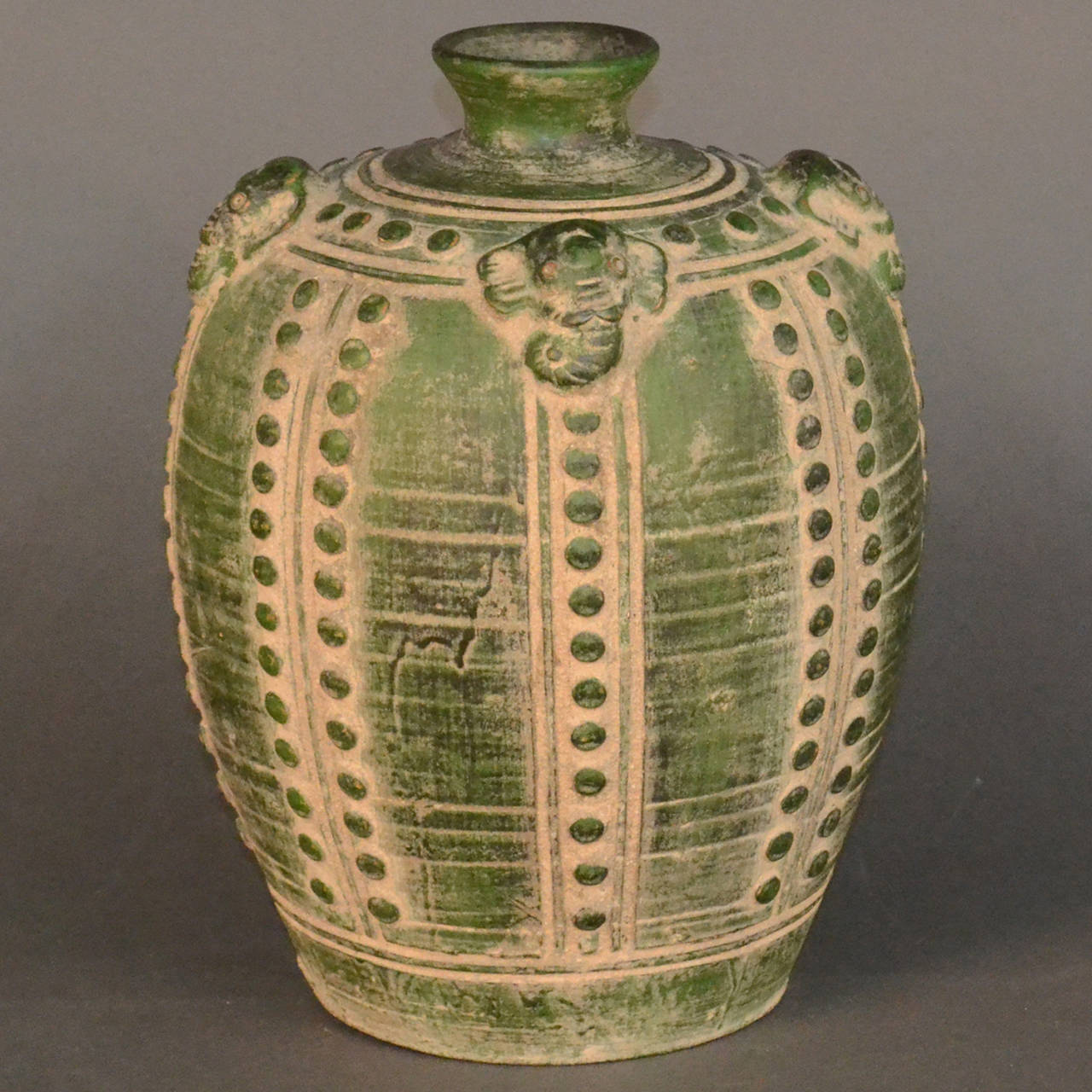 Large Asian Emerald Green Elephant Vase At 1stdibs