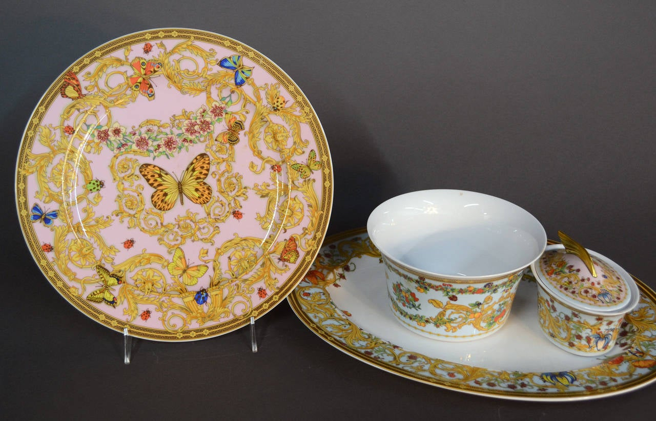 Le jardin de versace china dinnerware set at 1stdibs - Jardin de china ...
