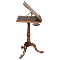 George III Mahogany Reading Stand