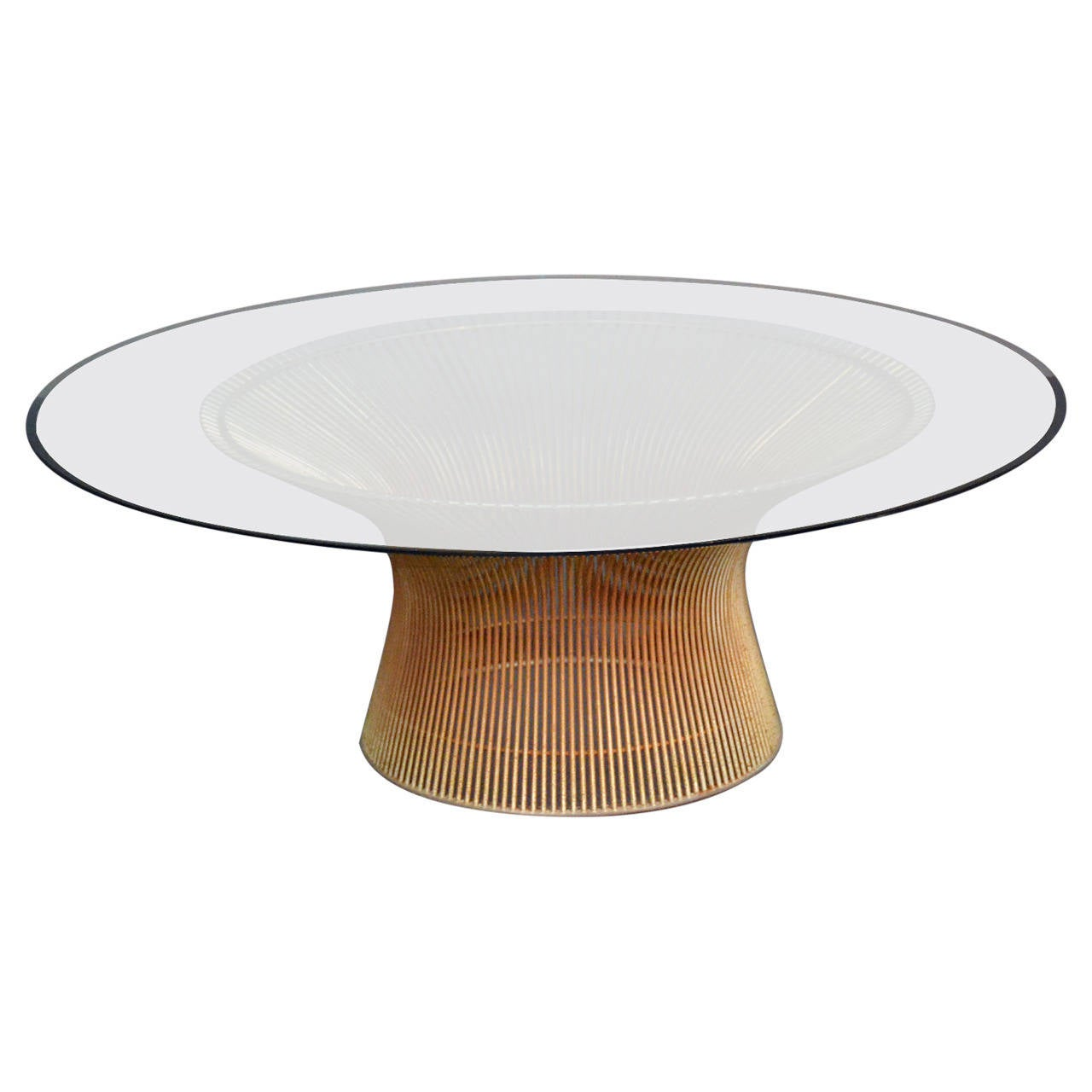 Warren Platner Coffee Table With Glass Top At 1stdibs