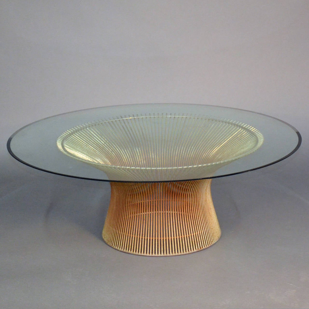 Warren platner coffee table with glass top at 1stdibs for Table warren platner