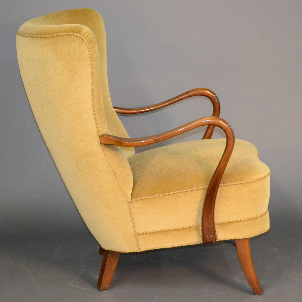 1940s Danish Modern Lounge Chair at 1stdibs
