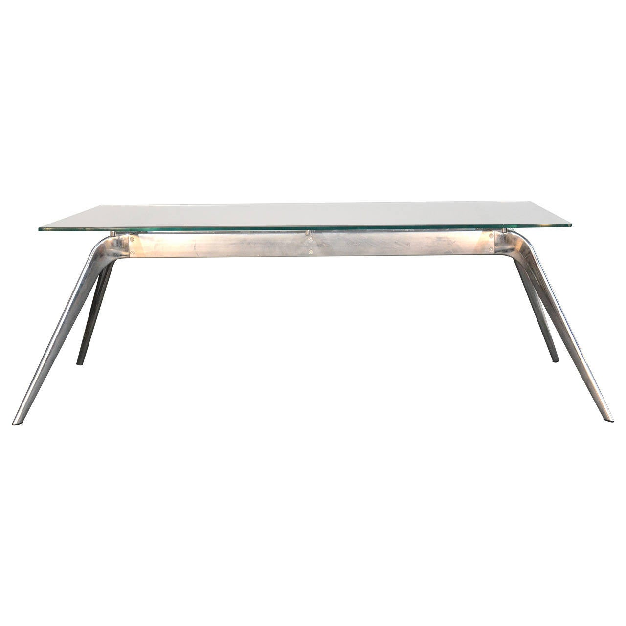 Hansen T No1 In TB7 Chrome Base With Glass Top Dining Table At 1stdibs