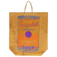 Andy Warhol Campbell's Tomato Soup Can Print on Shopping Bag, 1966