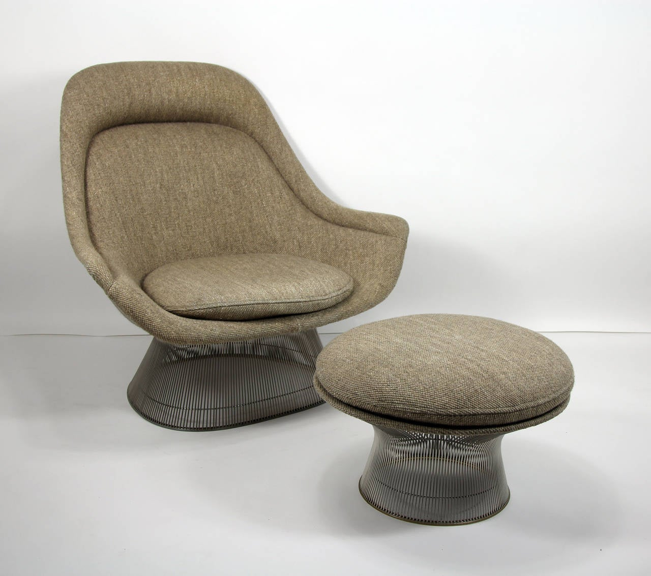 Platner Chair warren platner for knoll easy chair lounge and ottoman at 1stdibs