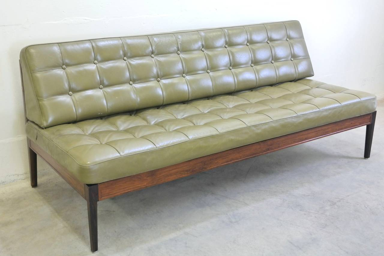 Fantastic And Very Rare Daybed Designed By Finn Juhl Frame Is Made Of Beautiful Rosewood