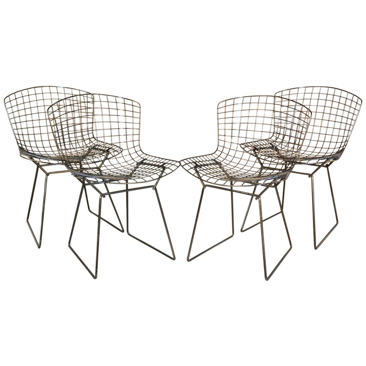 Harry Bertoia for Knoll dining chairs, 1970s