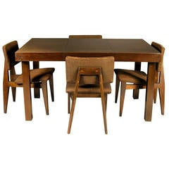 George Nelson for Herman Miller Prima Vera Table with George Nelson Chairs