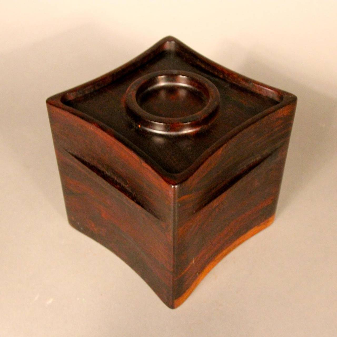Rosewood ice bucket from the