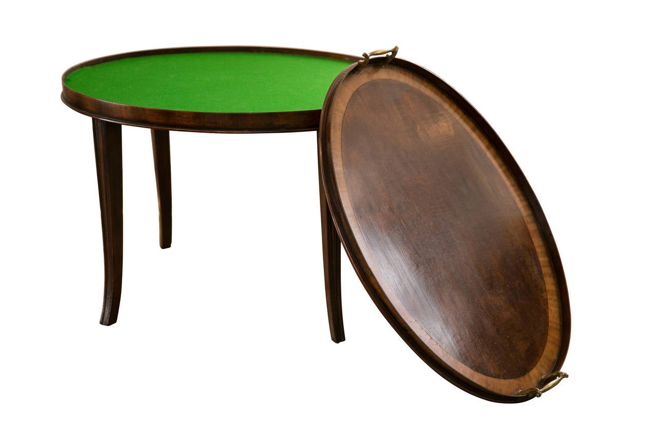 Edwardian mahogany oval tray side or coffee table at 1stdibs for Tray side table