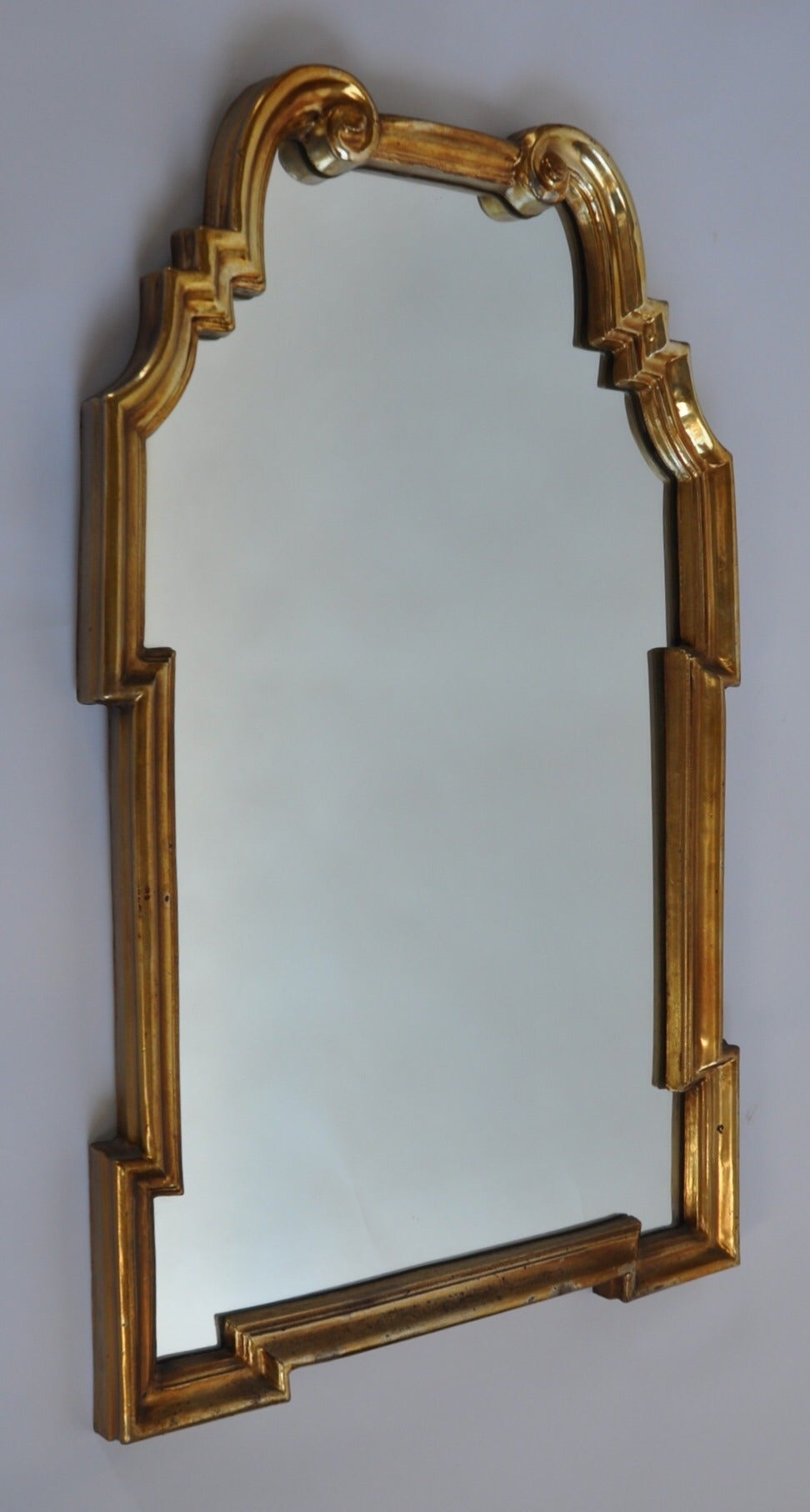 Gold Leaf Mirror By Labarge For Sale At 1stdibs