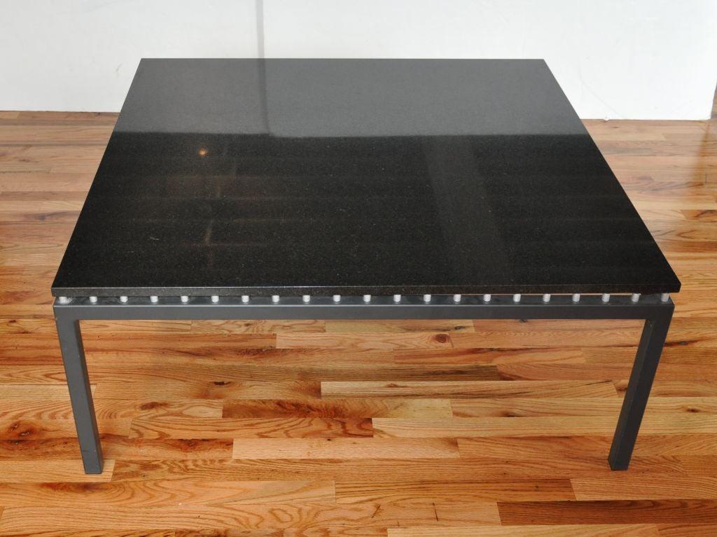 Black Granite Coffee Table At 1stdibs