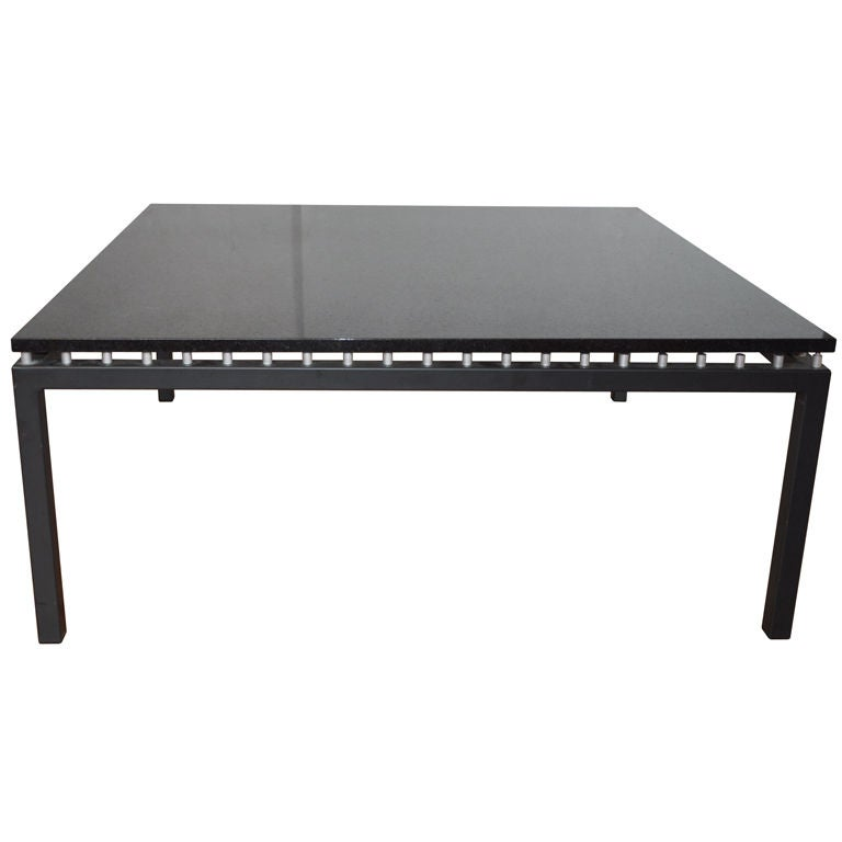 Black Granite Coffee Table At 1stdibs