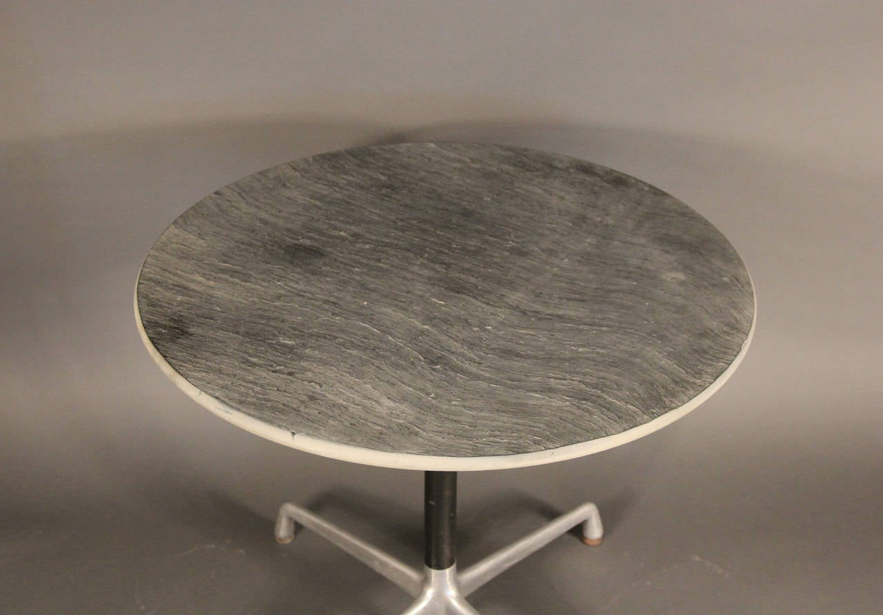 Eames slate top aluminum group table for herman miller at - Eames table herman miller ...
