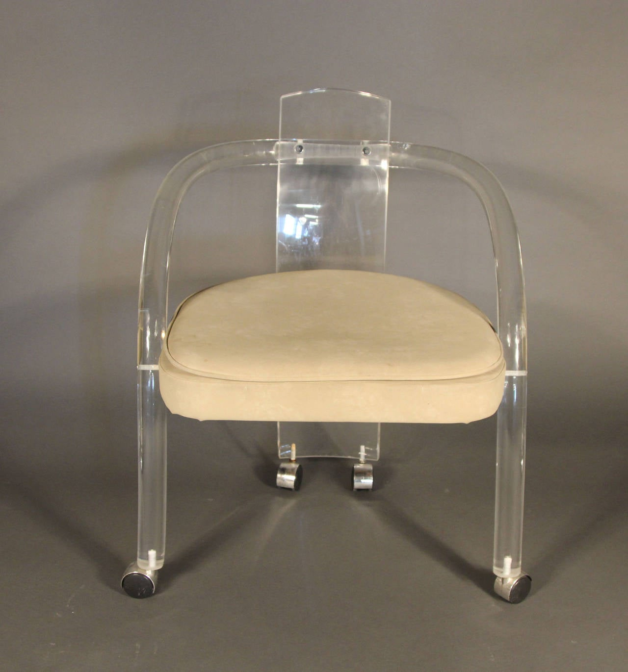 Set Of Four Charles Hollis Jones Style Lucite Dining Chairs 2