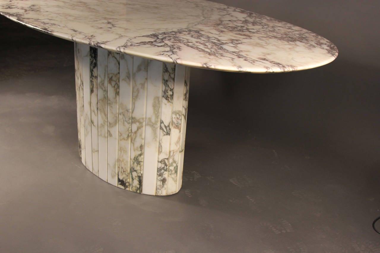 Gorgeous Carrara Marble Oval Dining Table Italian At 1stdibs