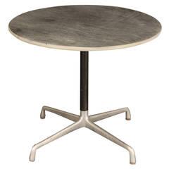 Eames Slate Top Aluminum Group Table for Herman Miller