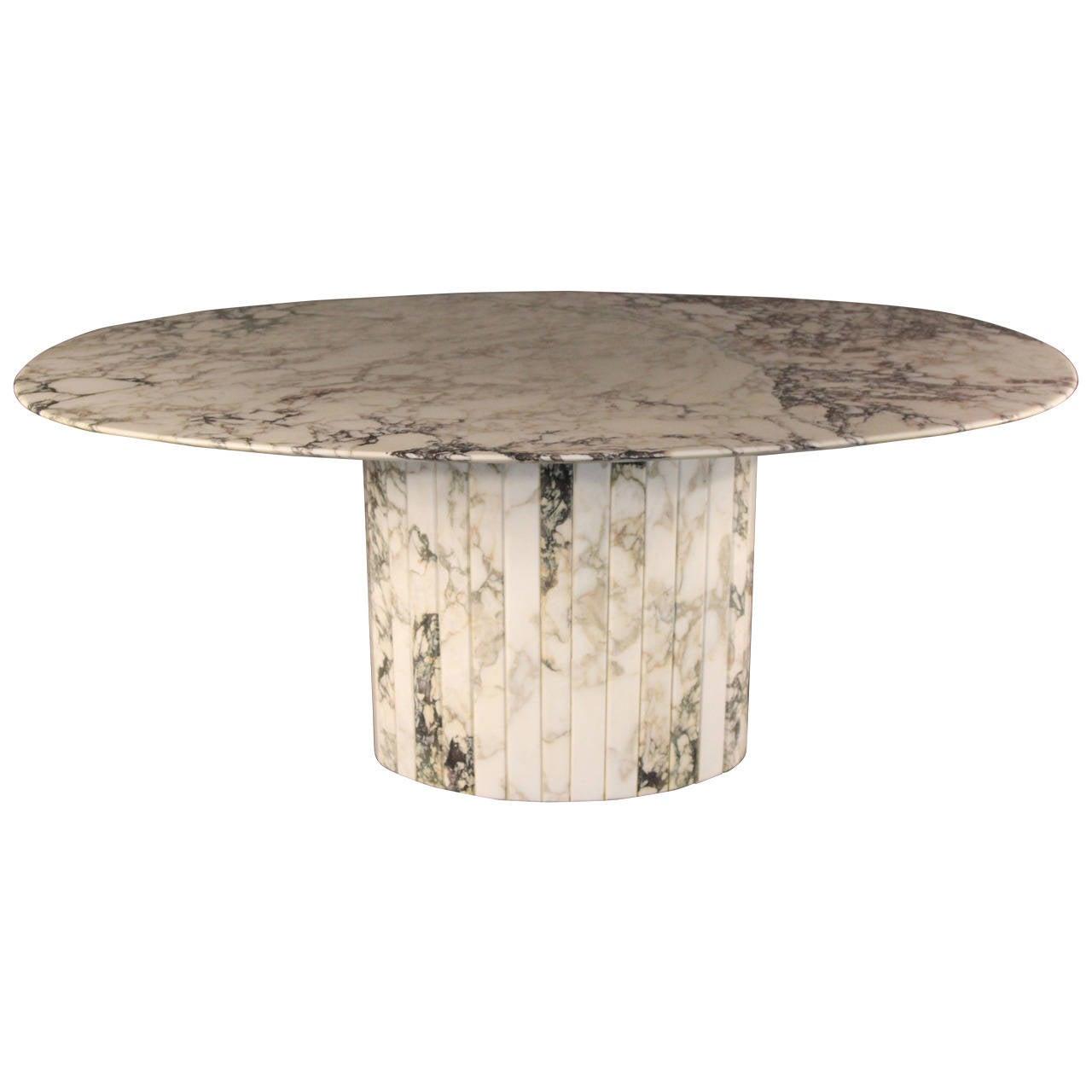 Oval marble dining table - Gorgeous Carrara Marble Oval Dining Table Italian 1