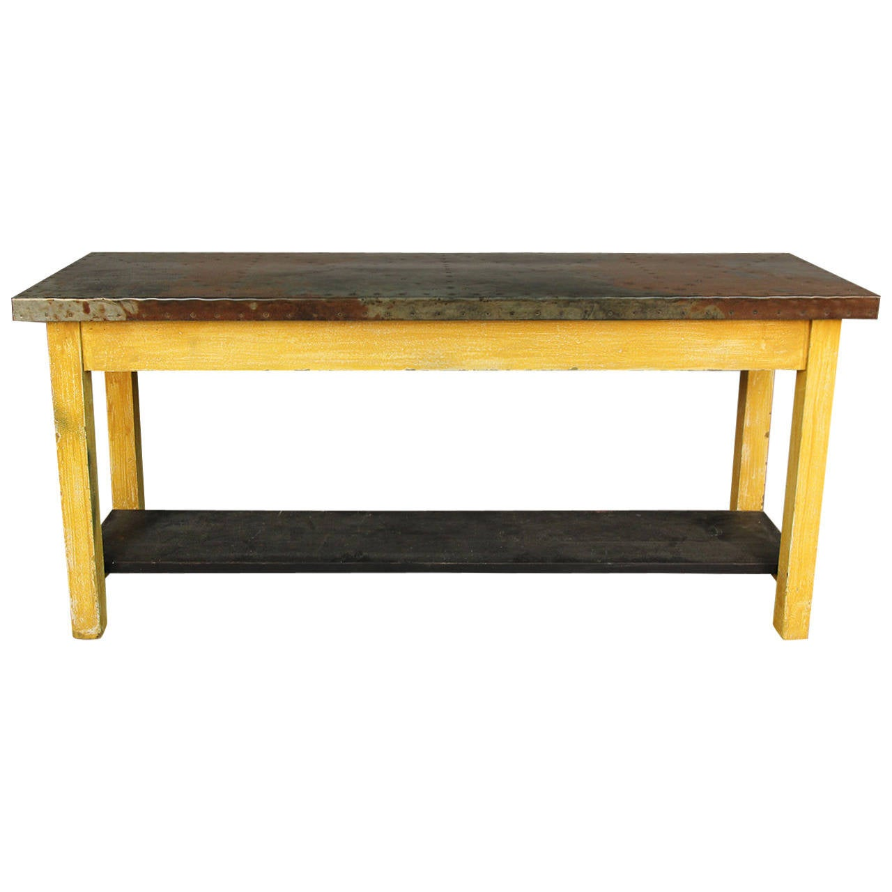 Unique zinc top console table for sale at 1stdibs for Unique console tables for sale