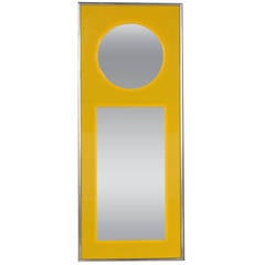 Carvers Guild Mid-Century Modern Lucite and Chrome Framed Mirror