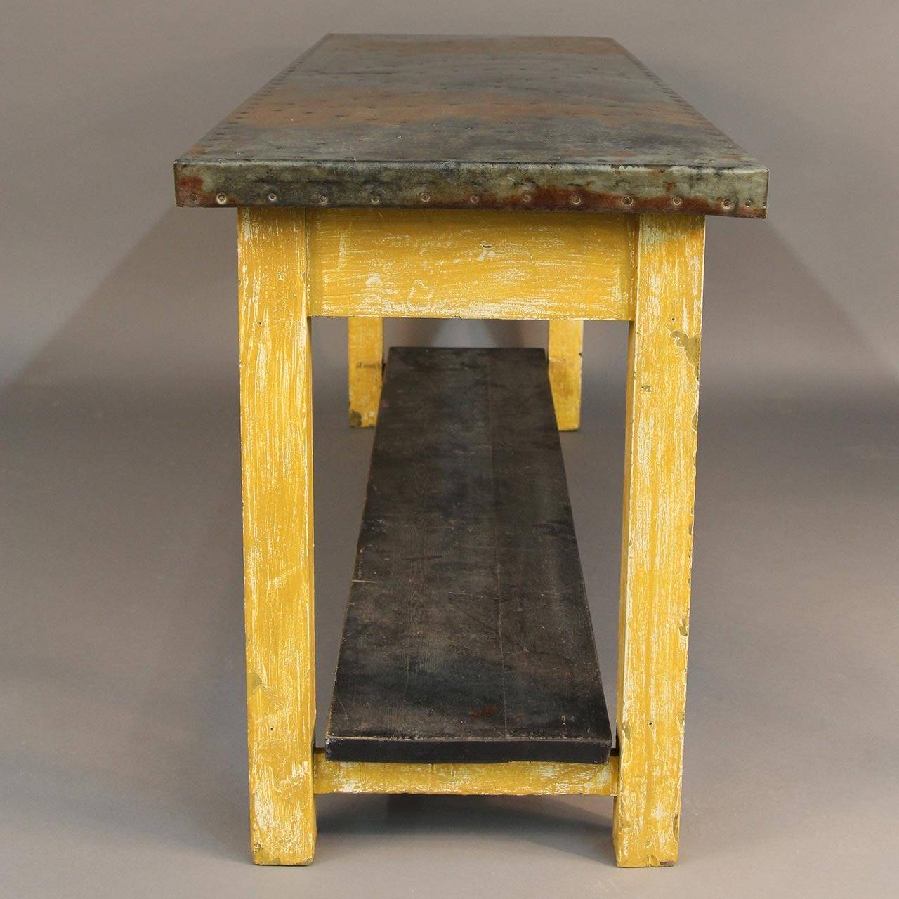 unique zinc top console table for sale at 1stdibs