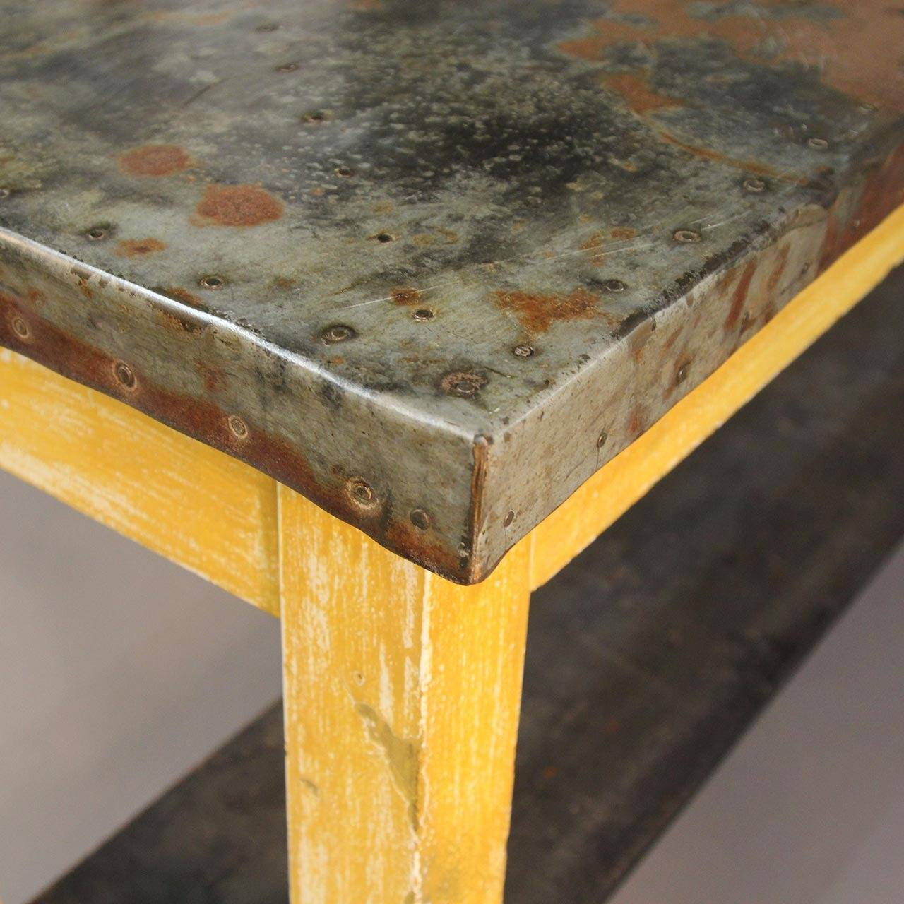 Unique zinc top console table for sale at 1stdibs for Interesting table tops