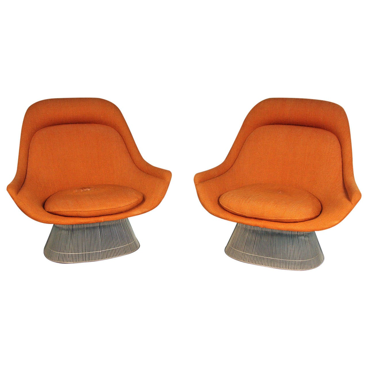 pair of warren platner for knoll easy chairs at 1stdibs