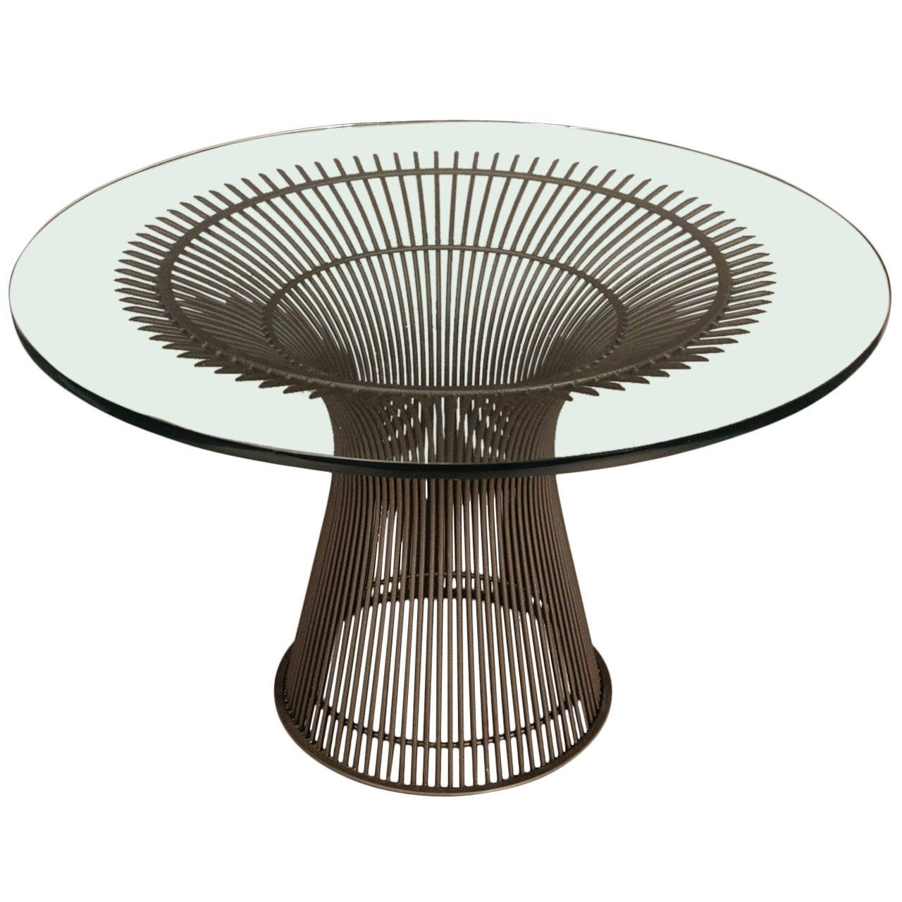 Warren Platner Glass Top Dining Table At 1stdibs