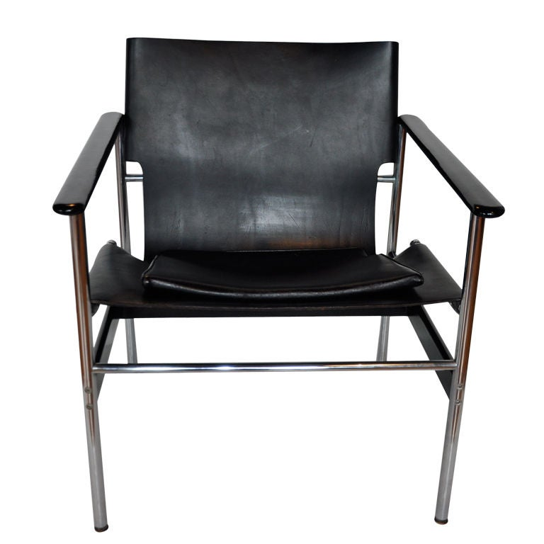 Leather Sling Chair Charles Pollack At 1stdibs