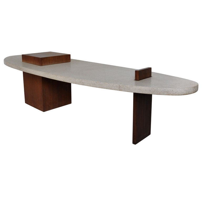 Surfboard Coffee Table Harvey Probber At 1stdibs