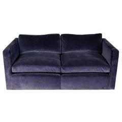 Knoll Velvet Upholstered Loveseat Sofa