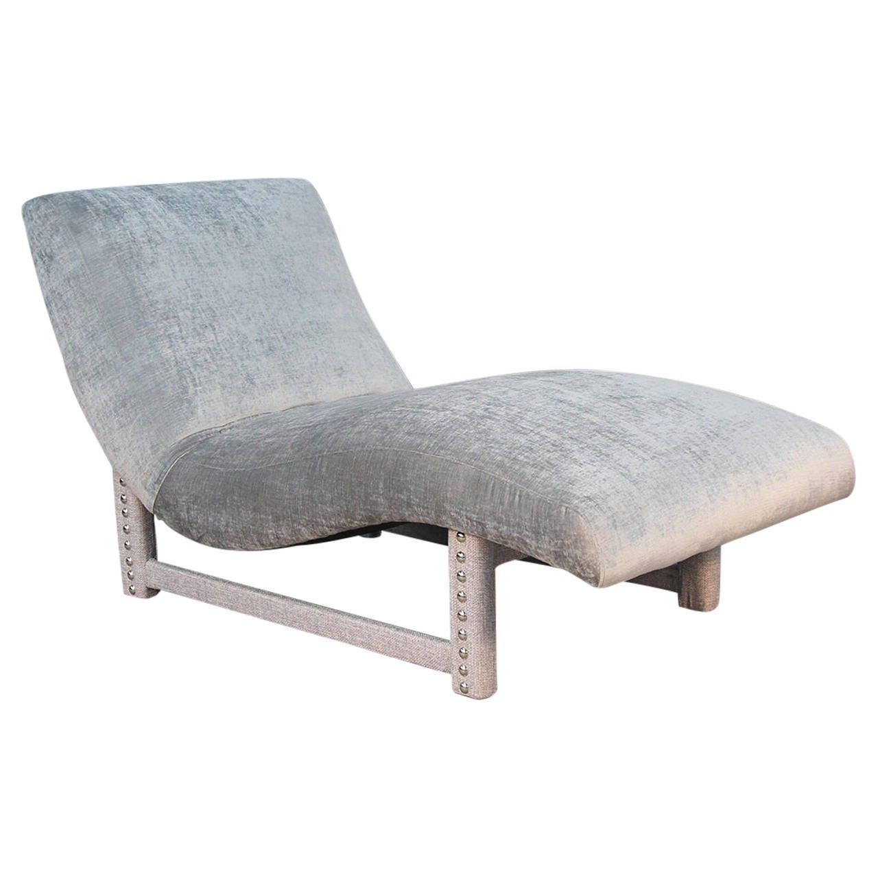Post modern wave chaise longue in the millennium style at for Chaise longue moderne