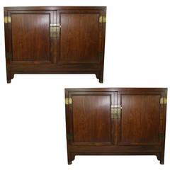 PAIR of Baker Far East Collection commodes