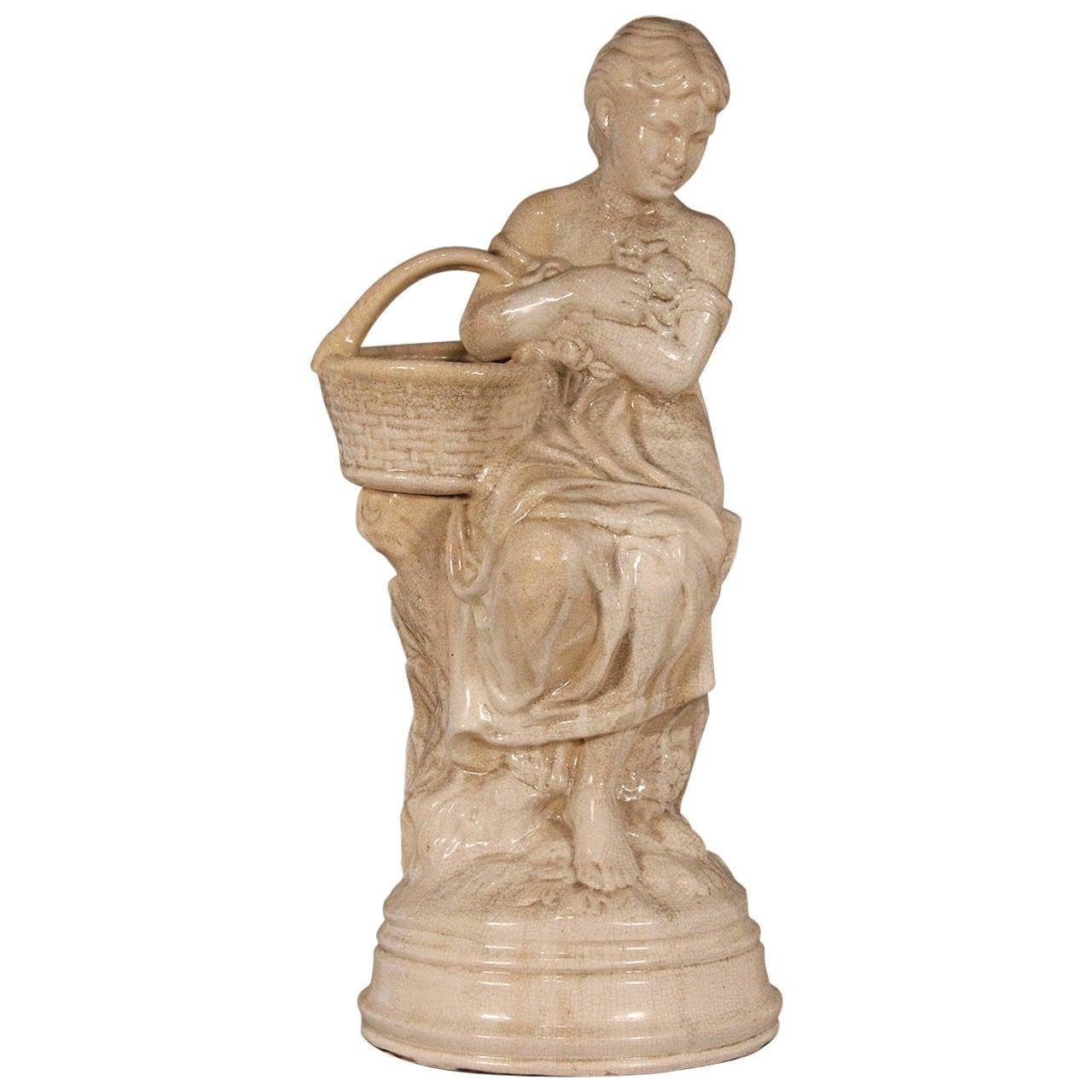 Beautiful Lady Garden Sculpture Ceramic Statue