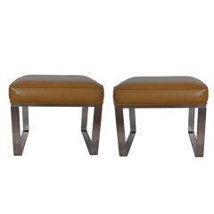 Pair of Stainless Stools