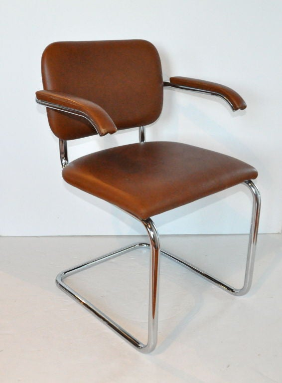 Four quot cesca dining chairs marcel breuer knoll at stdibs