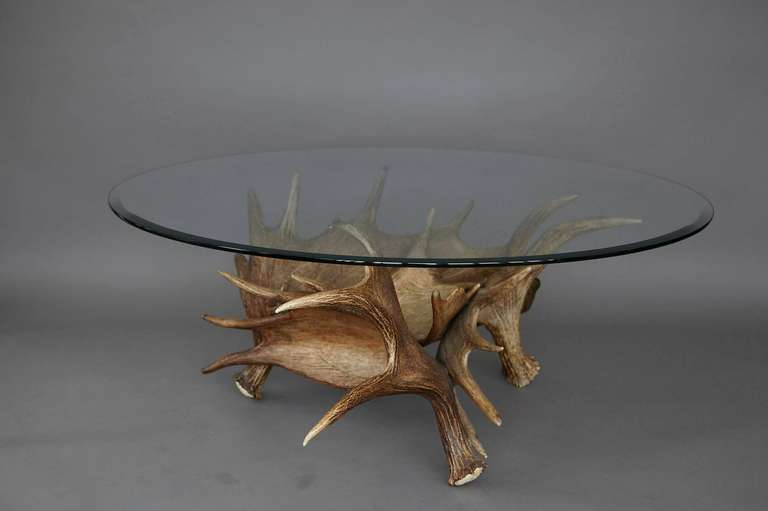this moose antler coffee table is no longer available