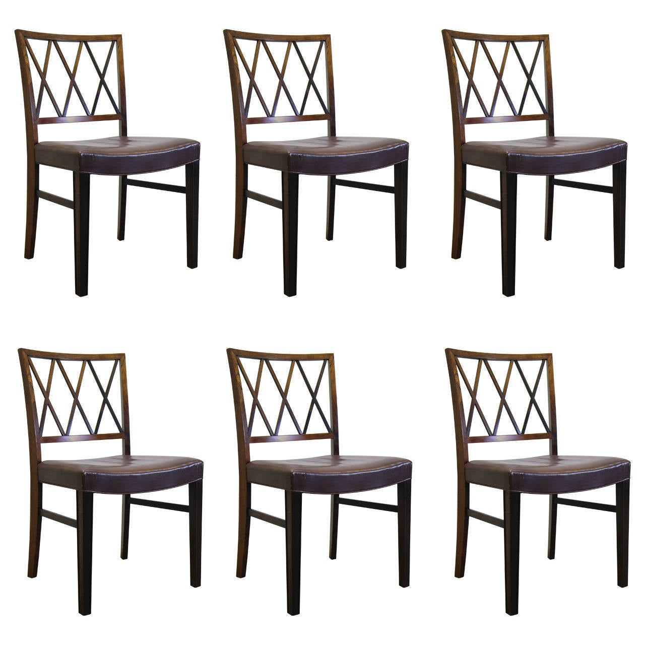 Ole wanscher rosewood dining chairs set of six at 1stdibs - Rosewood dining room furniture ...