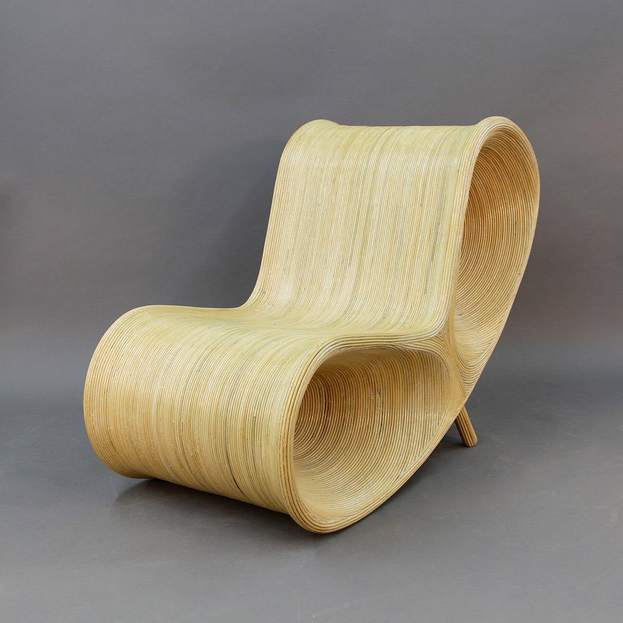 Incredible Modern Wicker Lounge Chair Stdibs