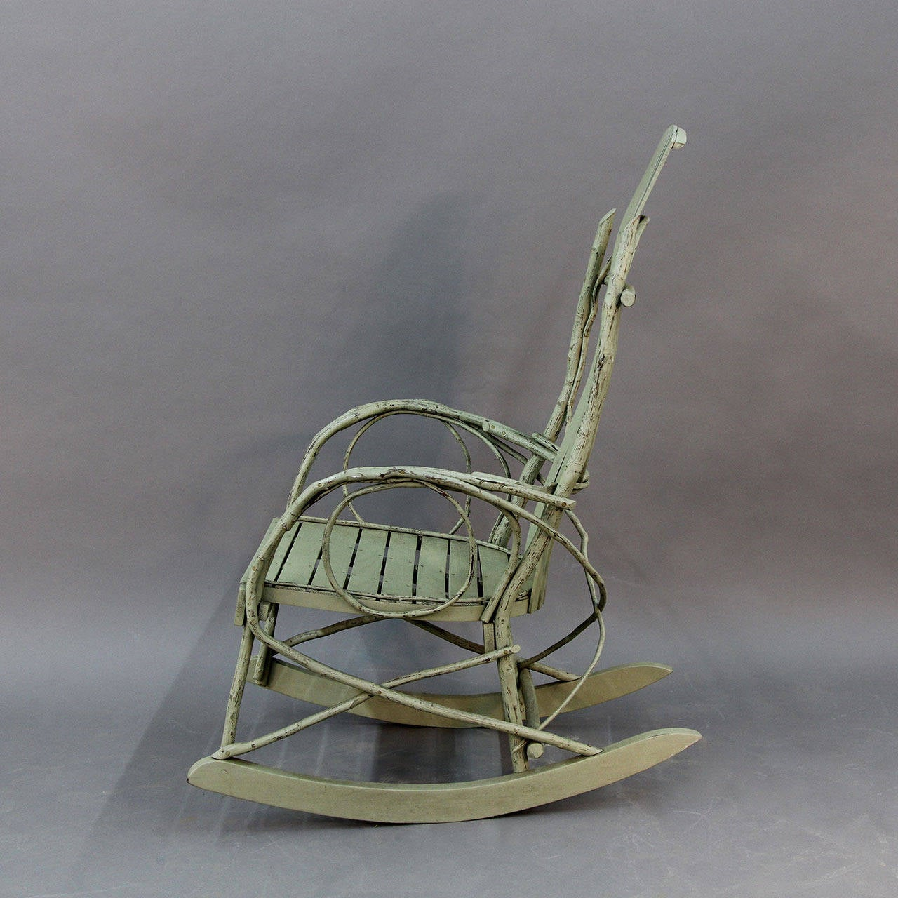 Original American Twig Adirondack Rocking Chair At 1stdibs